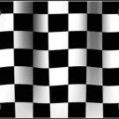 Waving Checkered Racing Flag Vanity Metal Novelty License Plate