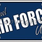Proud Air Force Uncle Novelty Vanity Metal License Plate