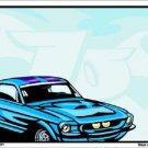 Classic Car Mustang Metal Novelty Parking Sign