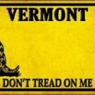 Vermont Dont Tread On Me Novelty Metal License Plate