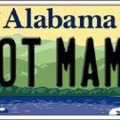 Hot Mama Alabama Background Novelty Metal License Plate