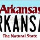 Arkansas Background Novelty Metal License Plate