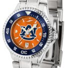 Auburn Tigers Ladies' Competitor Steel AnoChrome Color Bezel Watch