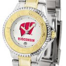 Wisconsin Badgers Ladies' Competitor Two-Tone Watch