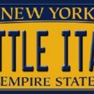 Little Italy New York Background Novelty Metal License Plate