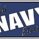 Navy Electrician Novelty Metal License Plate