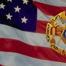 Masonic Emblem On U.S. Flag Photo License Plate