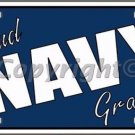 Proud Navy Grandma Novelty Vanity Metal License Plate
