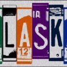 Alaska License Plate Art Brushed Aluminum Metal Novelty License Plate