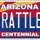 Arizona Centennial Rattlers Metal Novelty License Plate