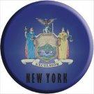 New York State Flag Metal Circular Sign