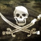 Jolly Roger Skull And Crossbones Photo License Plate