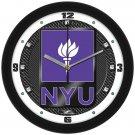 NYU Violets Carbon Fiber Textured Wall Clock