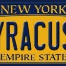 Syracuse New York Background Novelty Metal Novelty License Plate