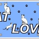 Cat Lover Novelty Vanity Metal License Plate