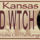 Wicked Witch Kansas Photo License Plate