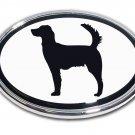 Hunting Chrome Auto Emblem (Irish Setter)