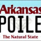 Spoiled Arkansas Background Novelty Metal License Plate