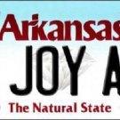 N Joy AR Arkansas Background Novelty Metal License Plate