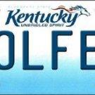 Golfer Kentucky Novelty Metal License Plate