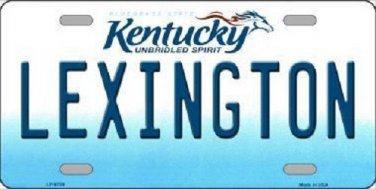 Lexington Kentucky Novelty Metal License Plate