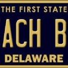 Beach Bum Delaware Novelty Metal License Plate