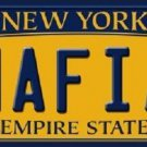 Mafia New York Background Novelty Metal License Plate