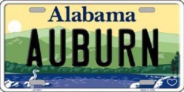 Auburn Alabama Background Novelty Metal License Plate