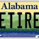 Retired Alabama Background Novelty Metal License Plate