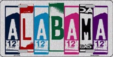 Alabama License Plate Art Brushed Aluminum Metal Novelty License Plate