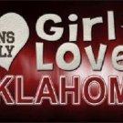This Girl Loves Oklahoma Novelty Metal License Plate