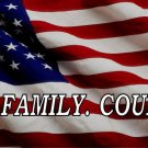 God. Family. Country. On United States Flag Photo License Plate