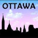 Ottawa Silhouette Novelty Metal License Plate