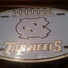 Tar Heels Embossed Novelty Metal Oval License Plate