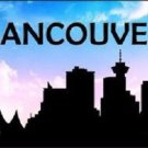 Vancouver Silhouette Novelty Metal License Plate
