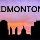 Edmonton Silhouette Novelty Metal License Plate