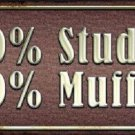 20 Percent Stud Novelty Metal License Plate
