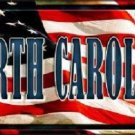 North Carolina Metal Novelty License Plate