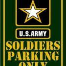 Soldiers Parking Only Metal Novelty Parking Sign