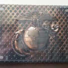 U.S. Marines Eagle, Globe & Anchor Full Color Embossed Metal License Plate