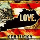 Kentucky Love Novelty Metal License Plate