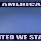 America-United We Stand Photo License Plate Frame