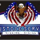 America Justice Served Vanity Metal Novelty License Plate