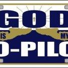 God is My Co-Pilot Vanity Metal Novelty License Plate