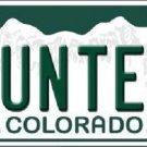 Hunter Colorado Background Novelty Metal License Plate