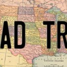 Road Trip Over Map Photo License Plate