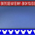 Mickey Mouse Song Black License Plate Frame #2