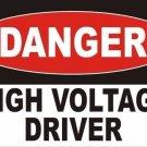 Danger High Voltage Driver Vanity Metal Novelty License Plate