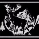Elk Black Brushed Chrome Novelty Metal License Plate