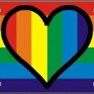 Heart Gay Pride Vanity Metal Novelty License Plate